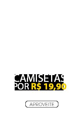 4 Camisetas por R$ 19,90