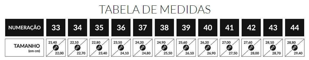 TABELA DE MEDIDAS SANDRO MOSCOLONI