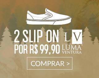 2 Slip On por R$ 99,90