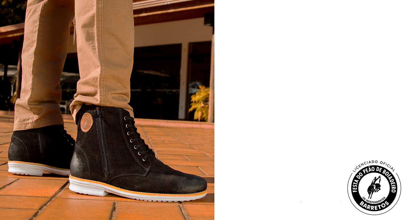 sapato calçado bota botina look masculino barretos