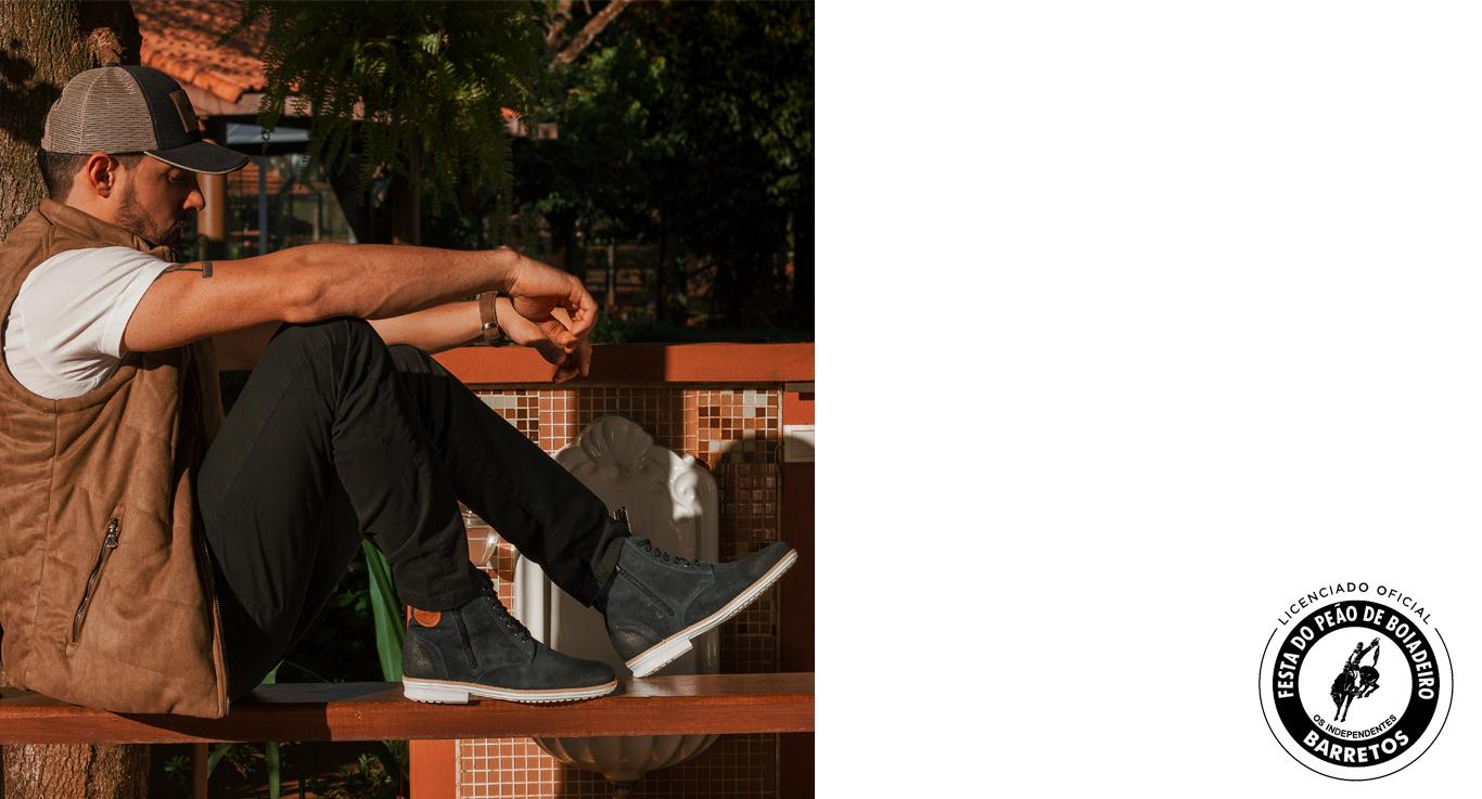 coleção sandro moscoloni bota masculina barretos