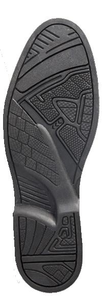 solado borracha natural gel flexível conforto bota masculina
