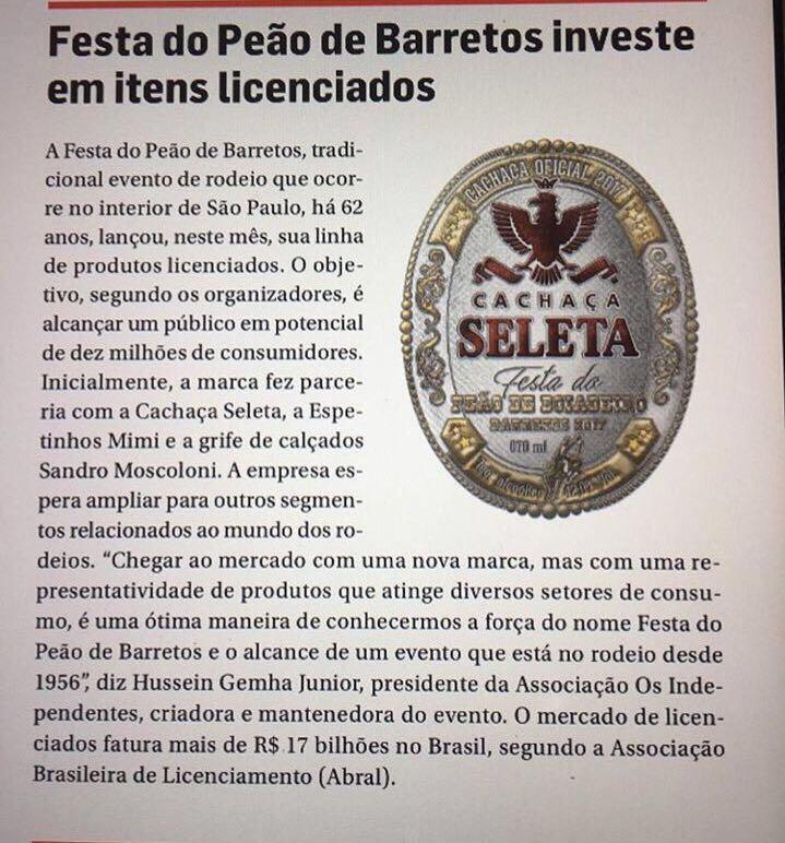 Festa do Peão de Barretos investe em itens licenciados